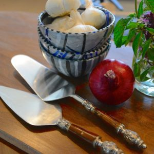 Upton Bone and Metal Cake Server