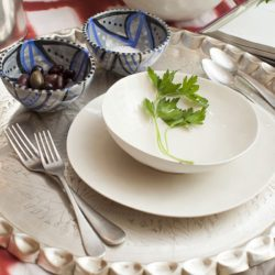 Celerie White Porcelain Soup Bowls (set of two)