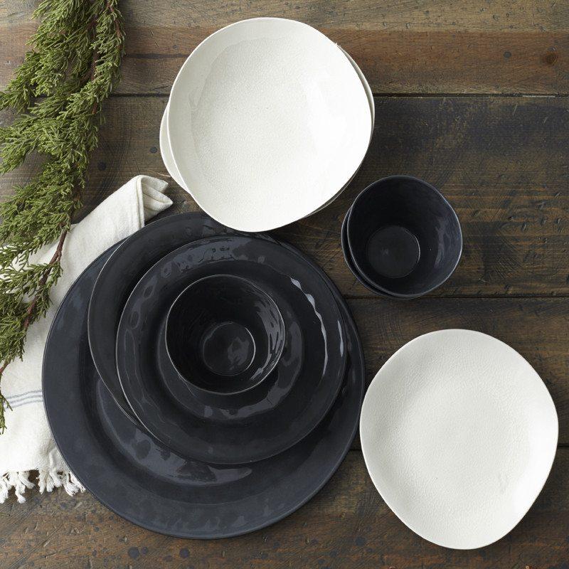 Margot Black Porcelain Dinner Plate & Margot Black Porcelain Dinner Plate   EC\u0027s Home Store