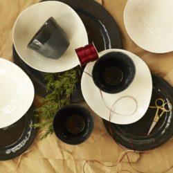 Patrice Black Porcelain Salad Plate