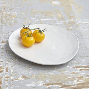 Lilly White Porcelain Dinner Plate