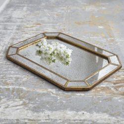 Dottie Rectangular Mirrored Serving Tray