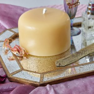 Obie Unscented Hand Poured Beeswax Pillar Candle