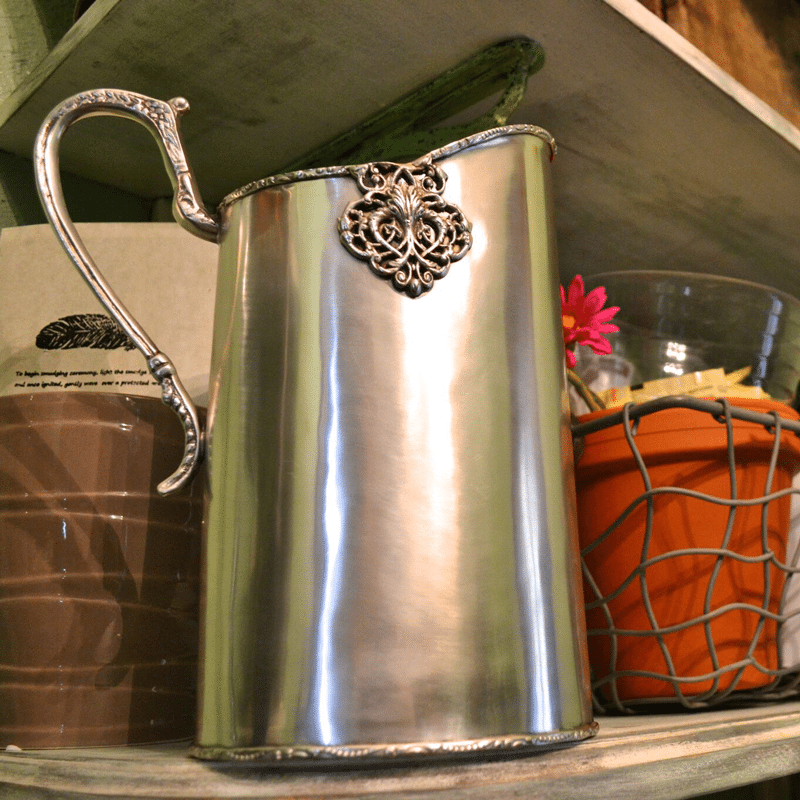 St martin silver metal pitcher entertaining ec 39 s home for Martin metal designs