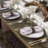 Lilly White Porcelain Dinner Plate