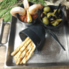 Aruna Square Metal Serving Tray with Handles (large)