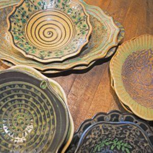 Kalani Pattern Ceramic Bowl