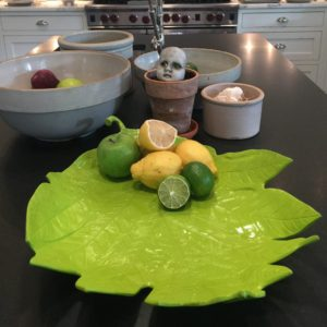 Dillon Limited Edition Green Lacquer Metal Serving Tray