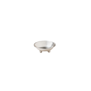 Eaton Small Round Silver Metal Footed Bowl