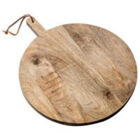 Maru Round Wood Board with Beeswax Finish