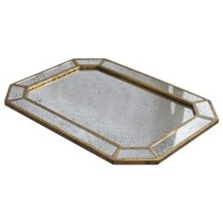 Dottie Rectangular Mirrored Serving Tray