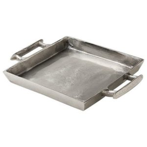 Aruna Square Metal Serving Tray with Handles (medium)